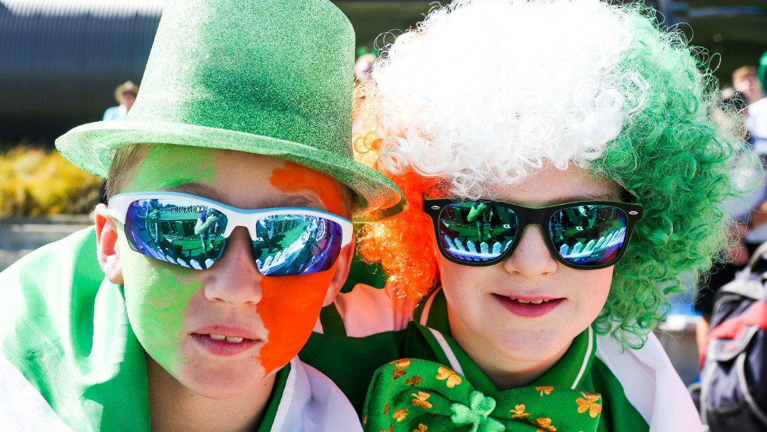 Younger members too got in the spirit for Ireland's third World Cup appearance.