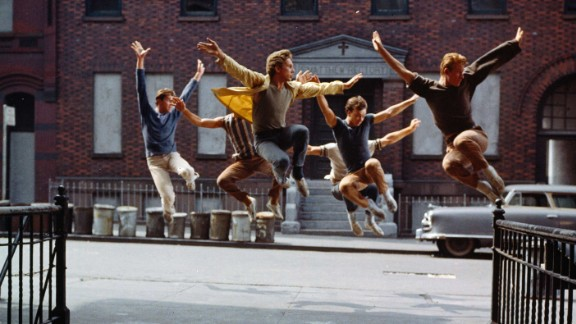 """""""West Side Story"""" (1962): """"West Side Story"""" used the streets of New York as backdrops for this musical version of """"Romeo and Juliet."""" The Jets and Sharks replaced the Montagues and Capulets as rival gangs ready to rumble, leading to tragedy for young lovers Tony (Richard Beymer) and Maria (Natalie Wood). The film took home 10 Oscars, including best supporting actor (George Chakiris), supporting actress (Rita Moreno) and direction (Robert Wise and Jerome Robbins, the first time the award was shared)."""