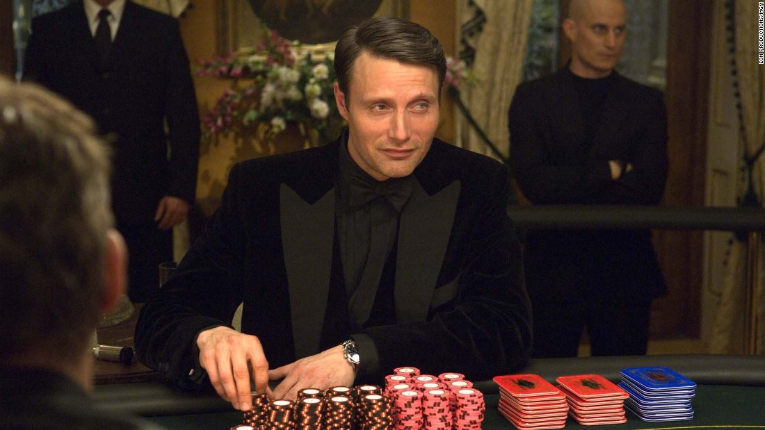 "Mads Mikkelsen, he of the eyes that shed tears of blood, played Le Chiffre opposite Daniel Craig's Bond in 2006's ""Casino Royale."" Mikkelsen now plays Hannibal Lecter on the TV show ""Hannibal."""
