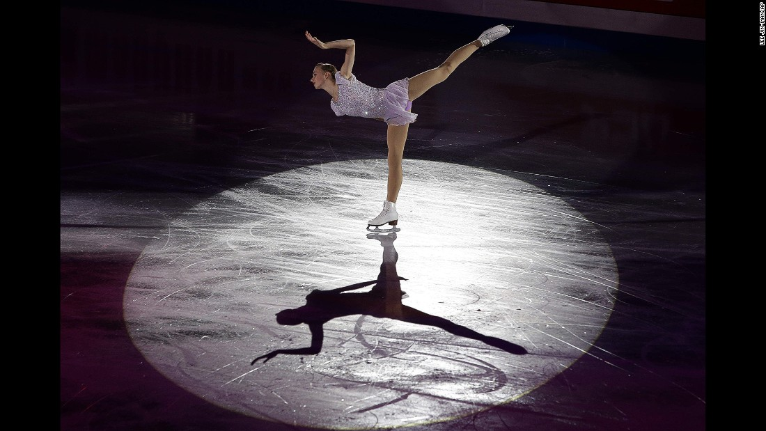 Polina Edmunds performs during the gala exhibition of the Four Continents Figure Skating Championships, which took place in Seoul, South Korea, on Sunday, February 15. Edmunds, an American, won the ladies' competition earlier in the day.