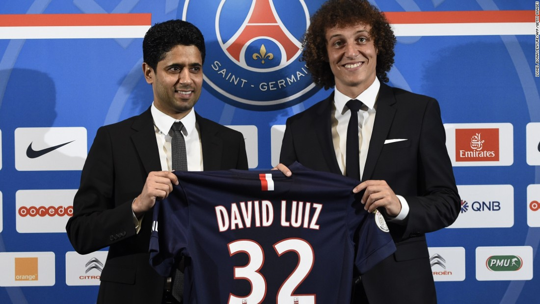 PSG was taken over by Qatar Sports Investments in June 2011, going on to claim its first league title for 19 years in 2013. Led by chairman Nasser Al-Khelaifi it has also spent big -- the purchase of defender David Luiz from Chelsea in May 2014 costing it an estimated  $76 million -- but it has fallen foul of UEFA's Financial Fair Play laws, being fined by Europe's governing body last year.