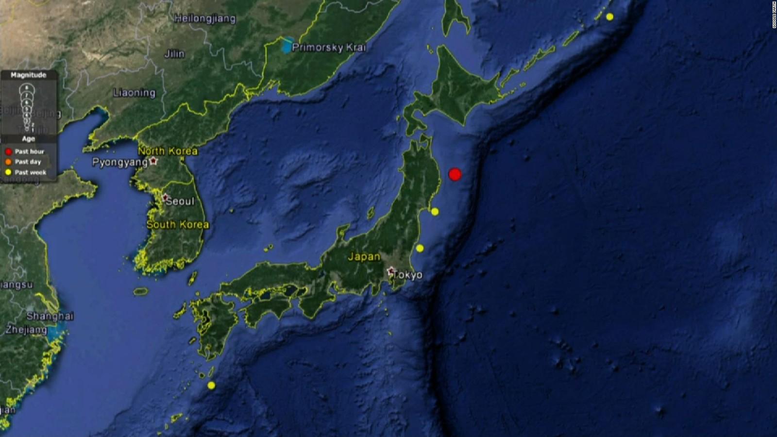 Aerial Map Of Japan.6 7 Earthquake Hits Off Japanese Coast Cnn