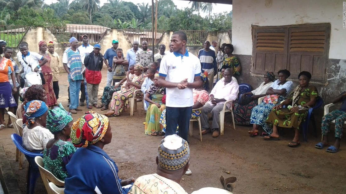 Cameroon has one of the highest maternal mortality rates in the world, and the majority of women don't get any follow-up care after delivering a baby. With Gifted Mom, Nteff says that he is trying to help educate women about how to look after themselves and their infants.