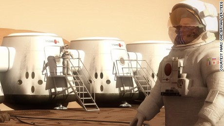 "Mars One plans to land humans on Mars 12 years from now. Paragon Space Development Corp., which wrote a study for the project, says humans could colonize other planets ""in our lifetime."""