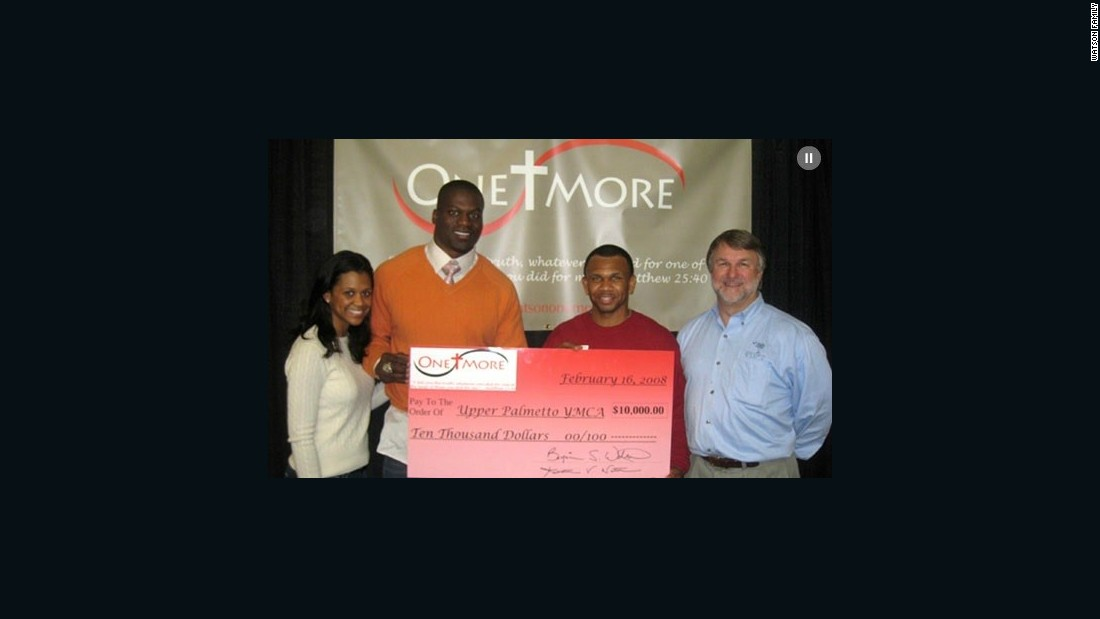 Benjamin and Kirsten Watson donate funds to Upper Palmetto YMCA (South Carolina) through their One More Foundation.