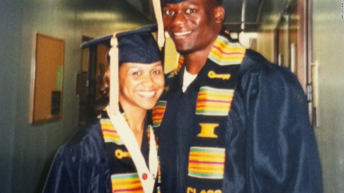 Benjamin and Kirsten Watson before marriage on graduation day at the University of Georgia (2003).