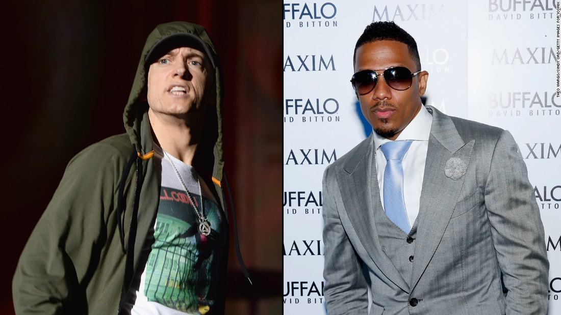 It's a case of he said/she said/he said. Eminem set it off after he claimed to have had a torrid dating relationship with singer Mariah Carey, who denied it. Her then husband, Nick Cannon, even offered to defend her honor by meeting the rapper in the ring.