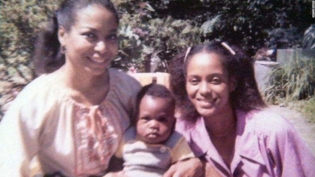 A young Benjamin Watson with his grandmother and mother.