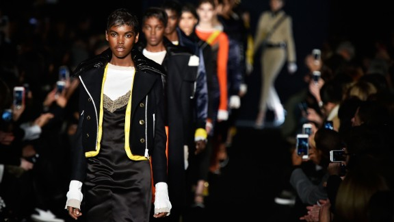The pops of color in Rag & Bone's fall collection were an homage to 1990s hip-hop.