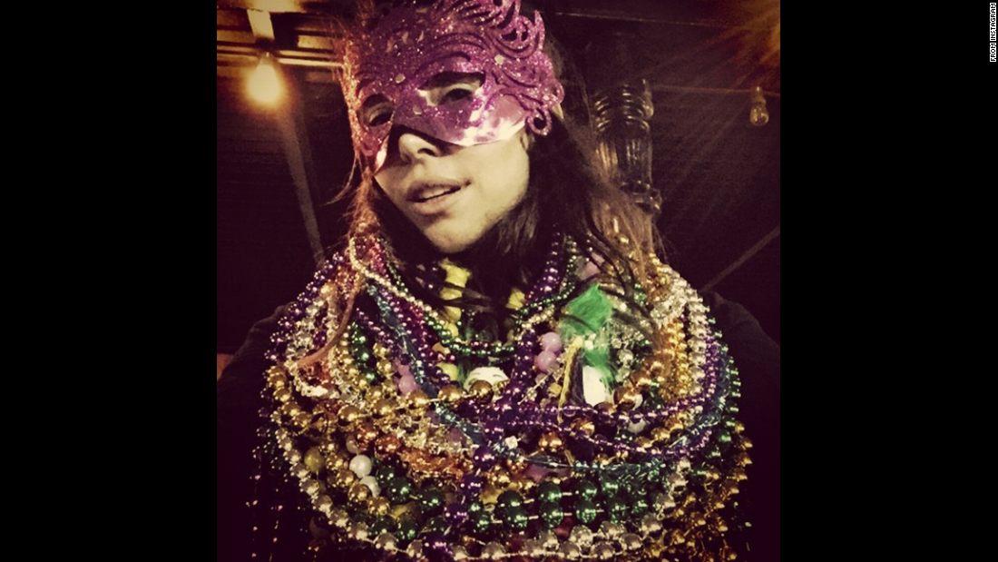 """New Orleans really gets me,"" <a href=""http://instagram.com/p/zNUsrakmQ0/?modal=true"" target=""_blank"">wrote comedian Whitney Cummings</a> as she attended Mardi Gras festivities on Tuesday, February 17."