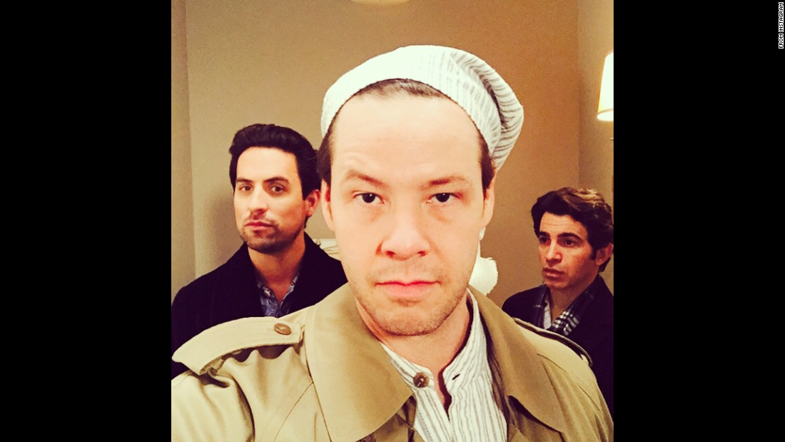 """Pajama Party with these mopes,"" said actor Ike Barinholtz in this selfie <a href=""http://instagram.com/p/zNY8y8u91c/?modal=true"" target=""_blank"">posted to Instagram</a> on Tuesday, February 17. The ""mopes"" he is referring to are his ""Mindy Project"" co-stars Ed Weeks, left, and Chris Messina."