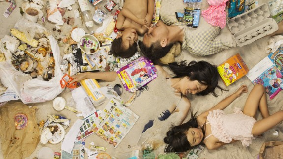 Annie Chow, who recycles and composts her waste said she didn't realize how much more she could recycle until doing this photo shoot with her family.