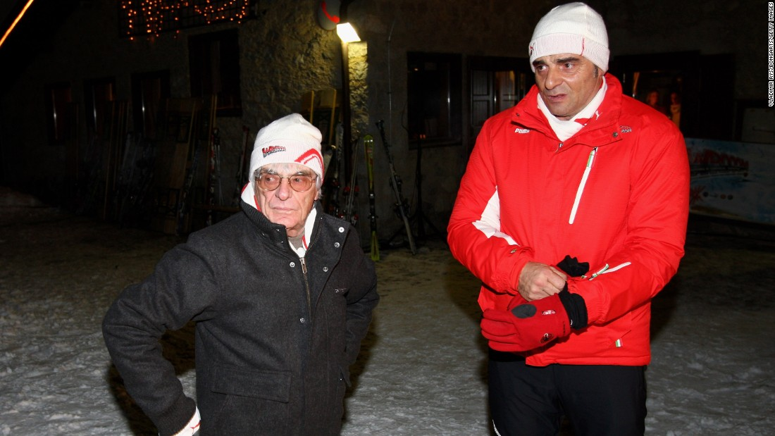 Ferrari is absorbing several changes ahead of the 2015 season which begins on March 15, including the arrival of new team principal Maurizio Arrivabene, who is seen here (right) at a skiing event with F1 chief Bernie Ecclestone.