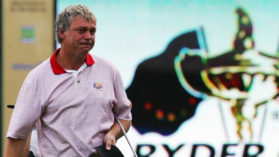 Clarke's last Ryder Cup appearance as a player was perhaps the most memorable. Playing just six weeks after his wife Heather had succumbed to cancer, Clarke was roared on by a vociferous home crowd at the K Club in Dublin, Ireland. An emotional Clarke won three out of three points as Europe repeated a huge victory margin of nine points.