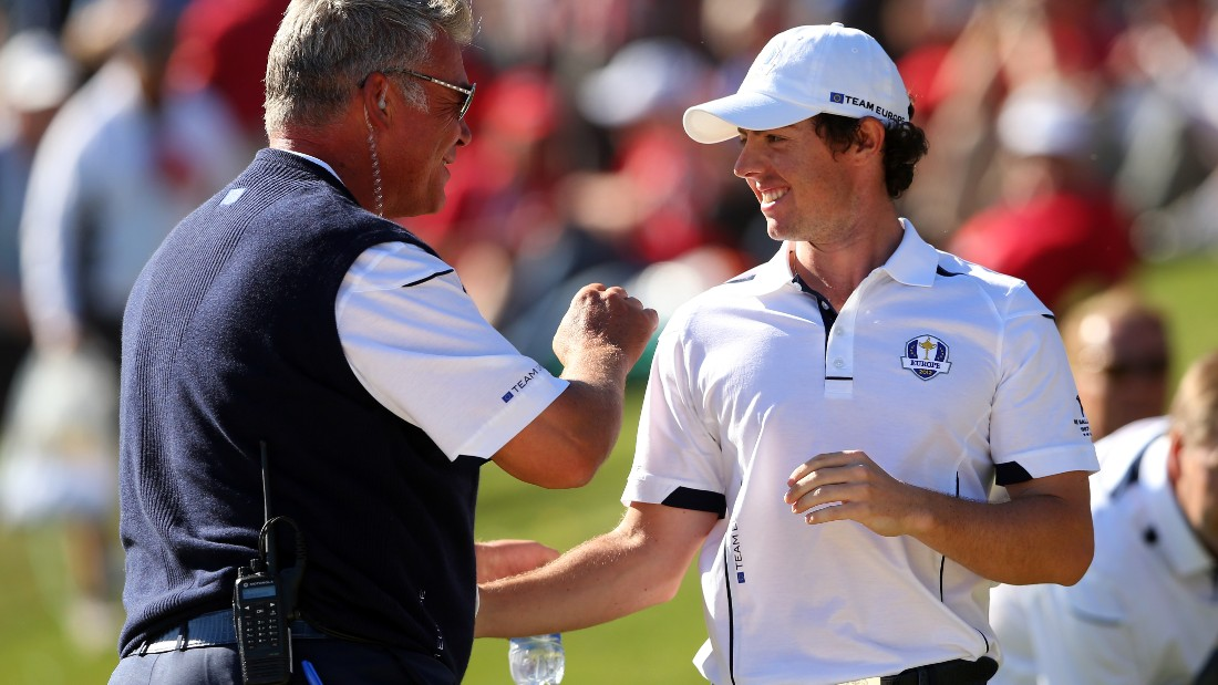 Clarke enjoyed the support of many high profile European players, world No. 1 and Rory McIlroy (pictured) part of a group that included Ian Poulter, Lee Westwood and Grame McDowell.