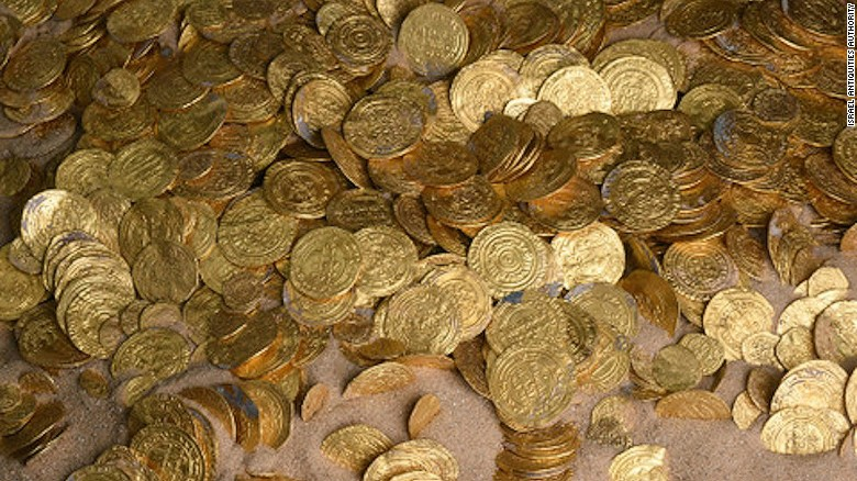 Divers find a trove of gold coins off the Israeli coast