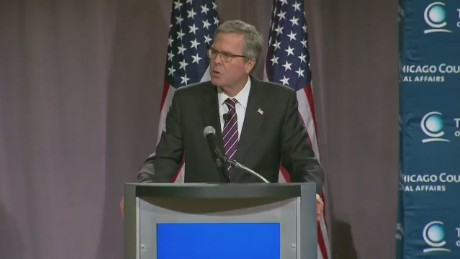 Bush: 'This administration talks, but the words fade'