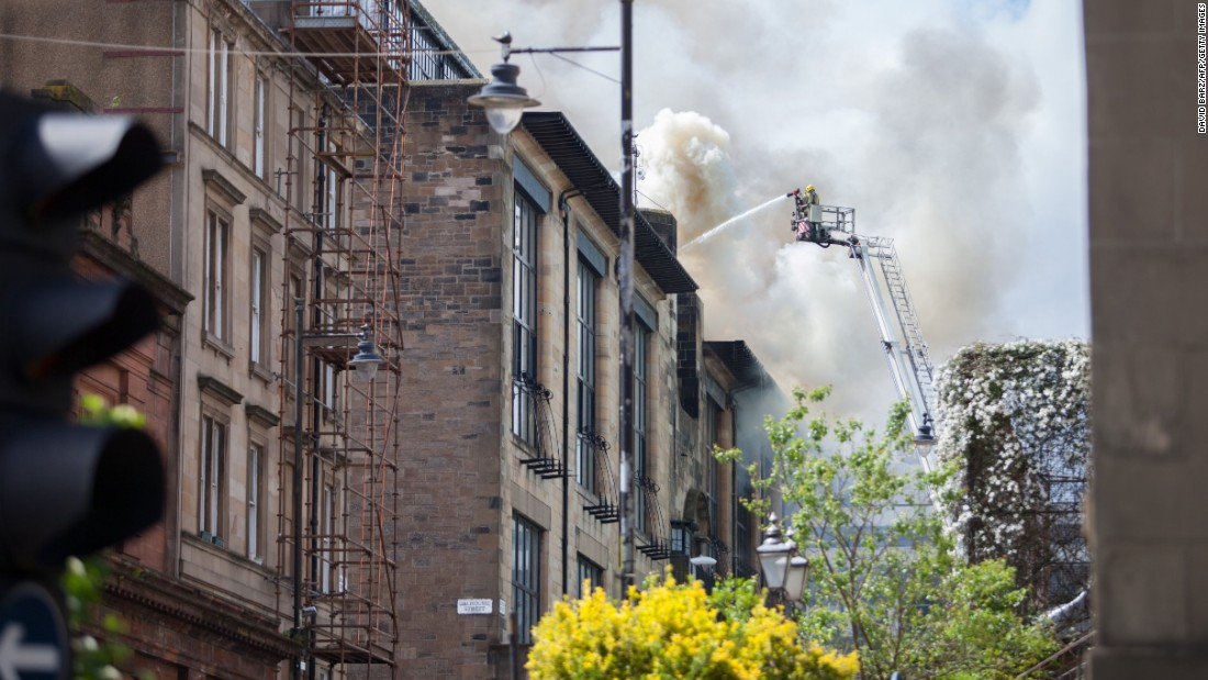 On the 23rd of May 2014, flames raged and plumes of smoke rose high above the Garnethill district of Glasgow, Scotland. <br /><br />The quaint city-center neighborhood is home to a mix of plush new-build flats as well as century-old red brick tenement blocks. It's also the base of the internationally-renowned Glasgow School of Art. <br /><br />Designed by Charles Rennie Mackintosh, widely regarded as one of the leading figures of late 19th and early 20th Century design and architecture, it was in the art school the blaze originated. Fire tore through the building, destroying studios, student's work and the majestic library that bears Mackintosh's name.<br /><br />Fire-fighters ensured that much of the school's structure was preserved, however the exquisite interiors and intricacies of the library's cherished decor were destroyed.<br />Last week, Getty Images photographer Jeff J. Mitchell was given access to the site which is currently being refurbished.<br /><br />At the same time, a new exhibition celebrating Mackintosh's life's work and enduring influence opened at the Royal Institute of British Architects in London.<br />