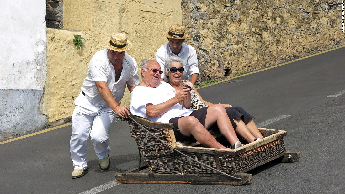 Although more tourists than locals now use this unusual form of transport, visitors to Madeira can still see the odd businessman being guided on wicker toboggans down the city's hills to work.