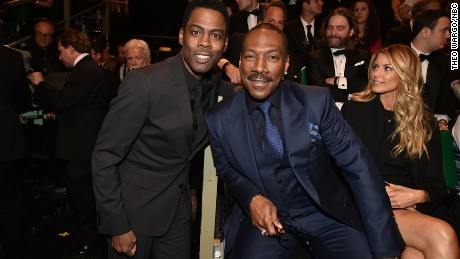 "Chris Rock, left, introduced Eddie Murphy on Sunday during the ""SNL"" 40th anniversary special."