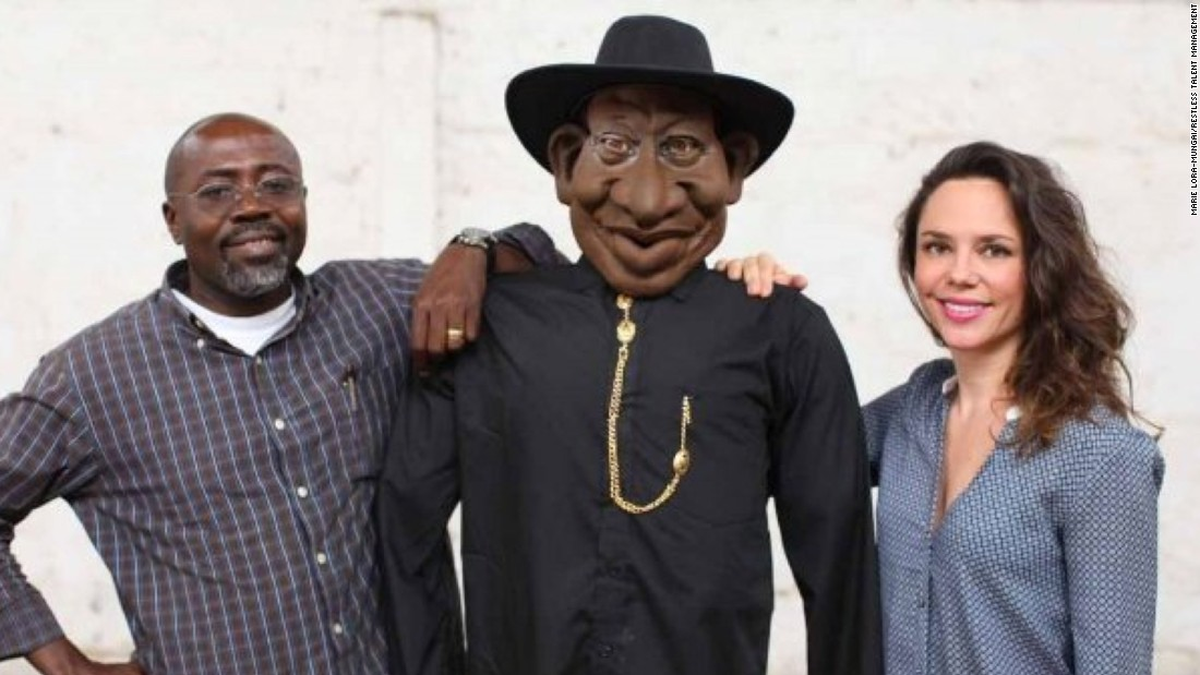 "The show's Goodluck Jonathan puppet counterpart is flanked by ""Ogas at the top"" executive producers Godfrey Mwampembwa aka Gado, and Marie Lora-Mungai. Any personality in contemporary Nigerian society could be a target for this insanely popular satirical puppet show."