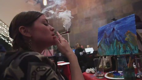 Image result for painting smoking weed