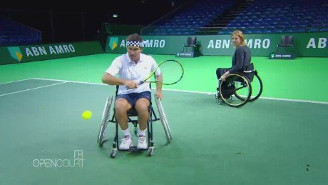 How difficult is wheelchair tennis?