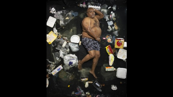 James poses solo in seven days of his garbage.