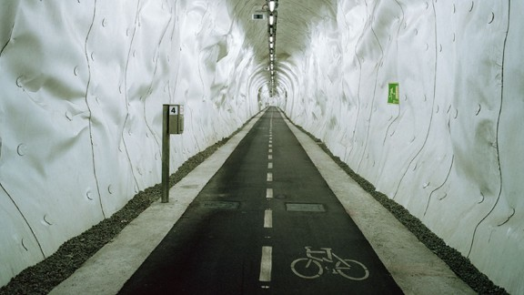 The Spanish city of San Sebastian has converted a disused railway tunnel into what is claimed to be the world's longest bike commuter tunnel. The tunnel allows for quick access to Bilbao, which was previously separated by steep hills.