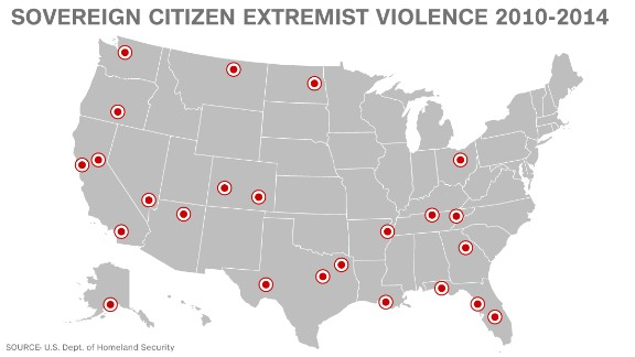 DHS has documented examples of violence by sovereign citizen extremists since 2010. They range from incidents that occurred in the home and at traffic stops to attacks on government buildings.