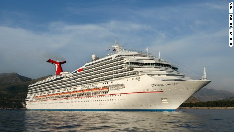 A Carnival Liberty engine caught fire in St. Thomas.