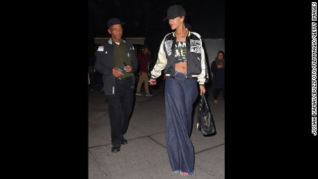 Trendsetter Rihanna sported a wide-leg jean in September.