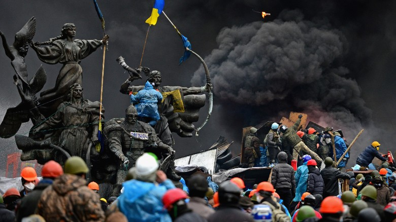 One year ago: Bloodshed in Kiev's Maidan Square