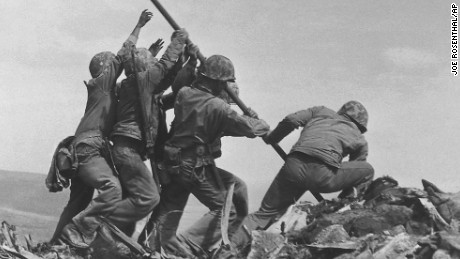 Iwo Jima battle scene