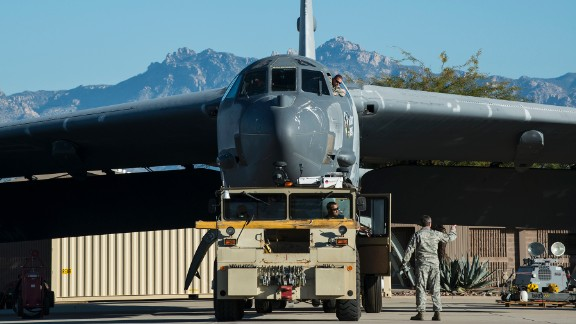 The plane is towed from a maintenance area at the Boneyard on February 11. Ghost Rider