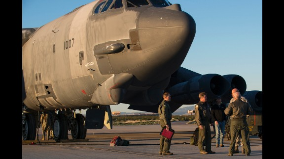 Crew members arrive to perform a taxi test on Ghost Rider at the Boneyard (formally the 309th Aerospace Maintenance and Regeneration Group) at Davis-Monthan AFB on February 12.