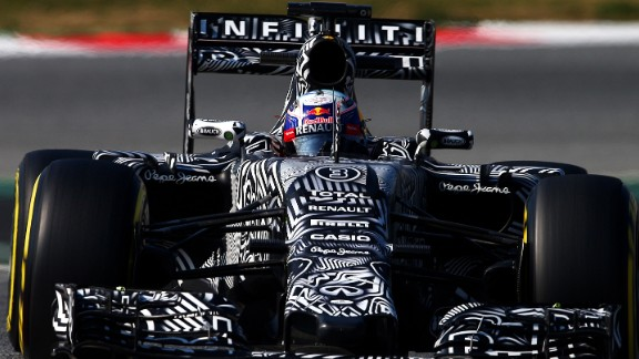 Australia's Daniel Ricciardo set the fastest time of the second day in his Red Bull as he looks to build on his third place in last season's F1 championship.
