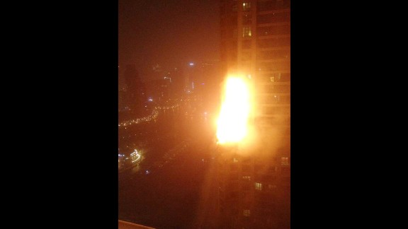 A fire broke out early Saturday at a luxury apartment skyscraper in Dubai, civil defense authorities said. No deaths were immediately reported and it was unclear how many people were inside The Torch, the Dubai Civil Defense said.