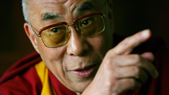 The Dalai Lama speaks with journalists at his hotel in London in 2008. British Prime Minister Gordon Brown met with him and pledged Britain's full support of reconciliation between Tibet and China.