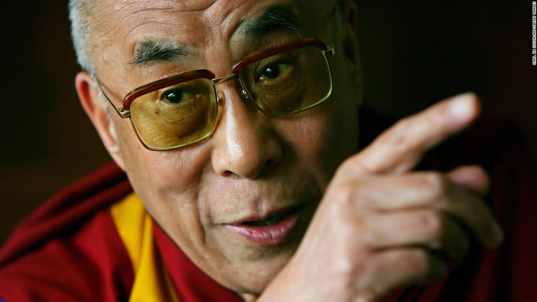 "The Dalai Lama speaks with journalists at his hotel in London in 2008. <a href=""https://www.cnn.com/2013/07/07/world/gordon-brown-fast-facts/index.html"">British Prime Minister Gordon Brown</a> met with him and pledged Britain's full support of reconciliation between Tibet and China."