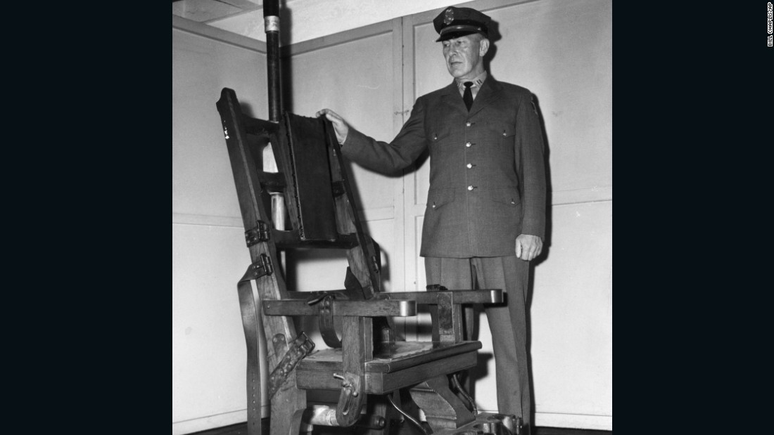 The last people executed in the state, Phillip Bellino and Edward Gerlson, were reputed gangsters -- the bogeymen of the 1940s and '50s. They were sentenced to die for the kidnapping and murder of an ex-Marine and were executed in 1947. Some 64 men died in the electric chair at Walpole State Prison, seen in this 1963 photograph.