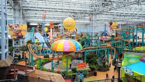 The amusement park at the center of the Mall of America on February 1, 2009 in Bloomington, Minnesota.