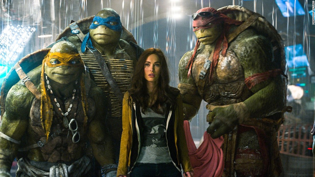 "Megan Fox was recognized for her supporting role in ""Teenage Mutant Ninja Turtles."""