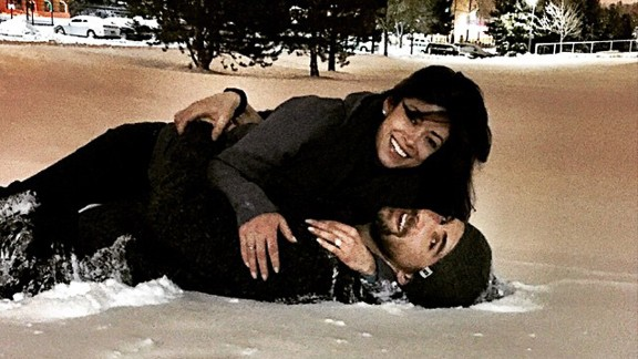 "Olympic swimmer Michael Phelps, seen here in 2010, proposed to girlfriend Nicole Johnson, according to their verified social media accounts. ""She said yes,"" he captioned a picture of him and Johnson cuddling in the snow."