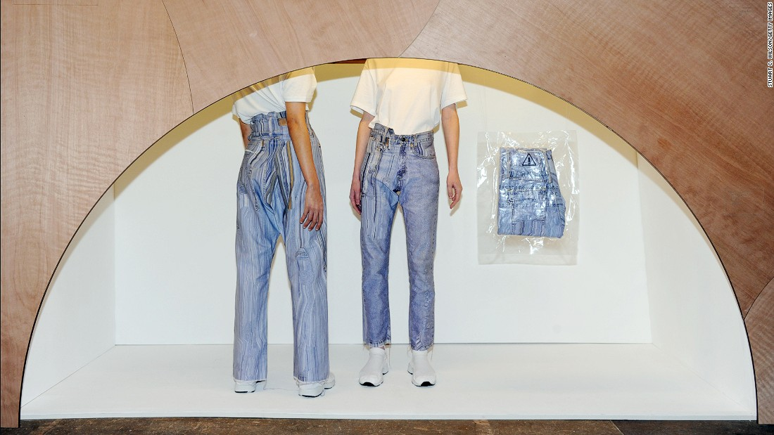 Faustine Steinmetz used traditional techniques to make simple garments, including lots of denim, appear as though they'd been Photoshopped. On Friday, she was short-listed for the 2015 LVMH Prize for young designers.