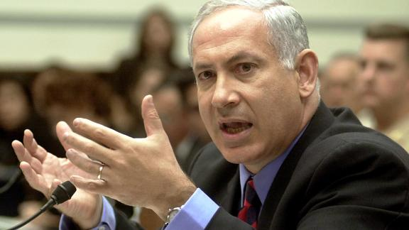 Netanyahu testifies before the US House Government Reform Committee on September 20, 2001. The committee was conducting hearings on terrorism following the September 11 attacks.