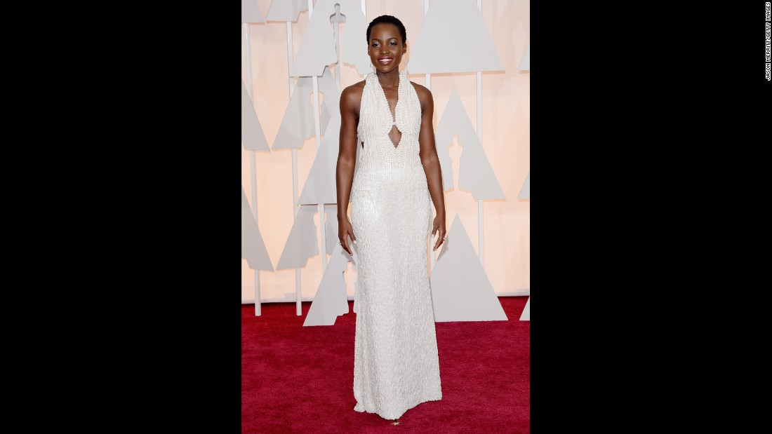 Actress Lupita Nyong'o wore this instantly famous, pearl-laden dress.