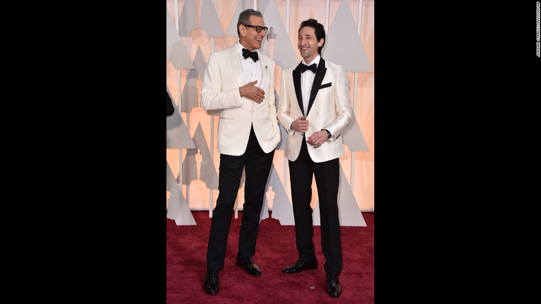 Jeff Goldblum, left, and Adrien Brody