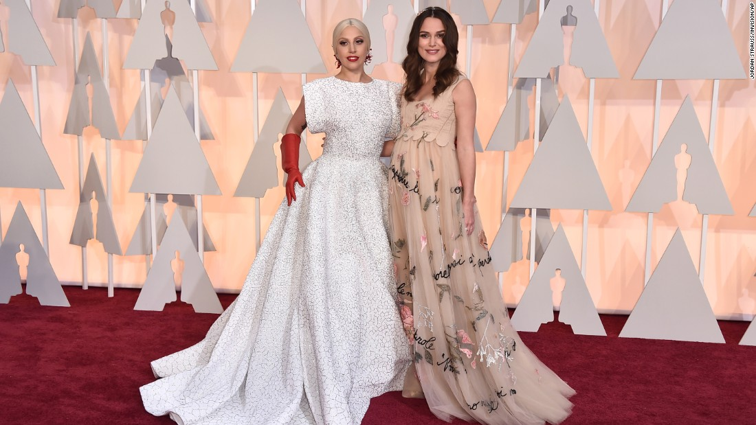 Lady Gaga, left, and Keira Knightley