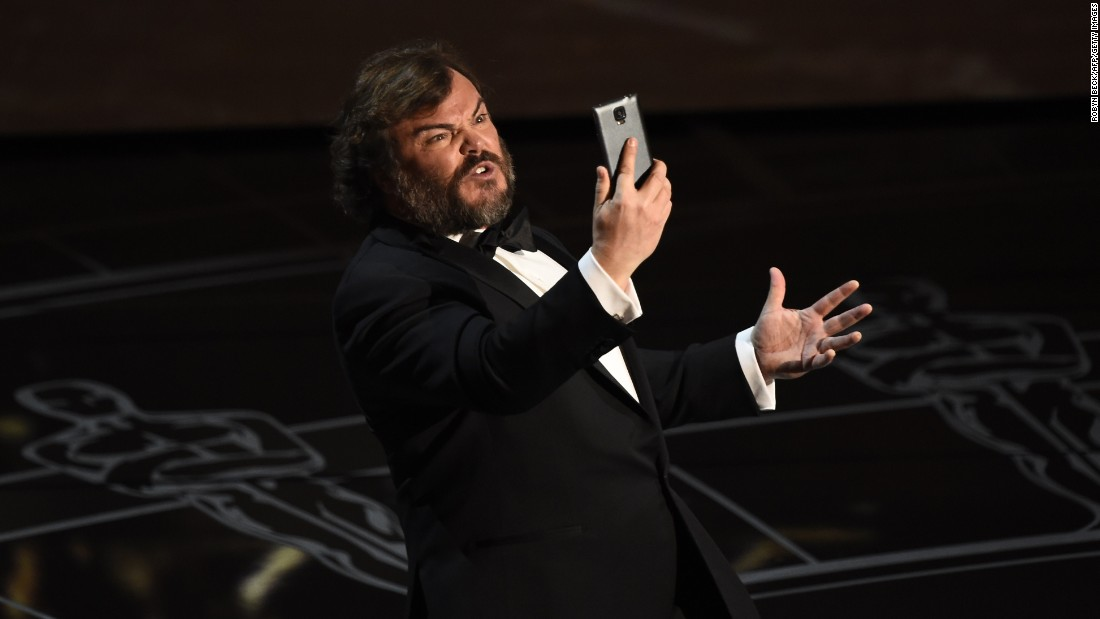 Jack Black performs during the show's opening number.